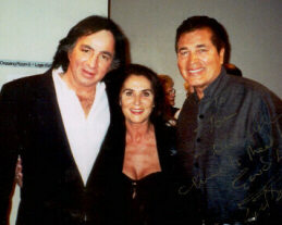 Tom Sadge with Engelbert and Patricia Humperdinck, Eng's wife.