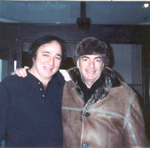Tom with Neil Diamond. PHOTO CREDIT: Linda Pollard
