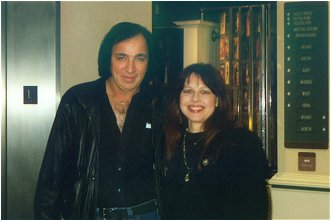 Tom Sadge with Neil Diamond's backup singer Linda Press. Photo by Marion Weiscarger Roughsedge