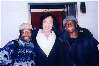 Vince Charles, Tom Sadge and King Erisson of Neil Diamond's band.