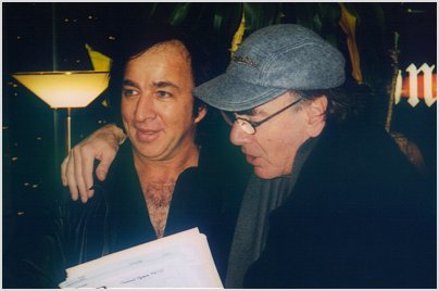 Tom Sadge with Neil Diamond. Photo by Linda Pollard